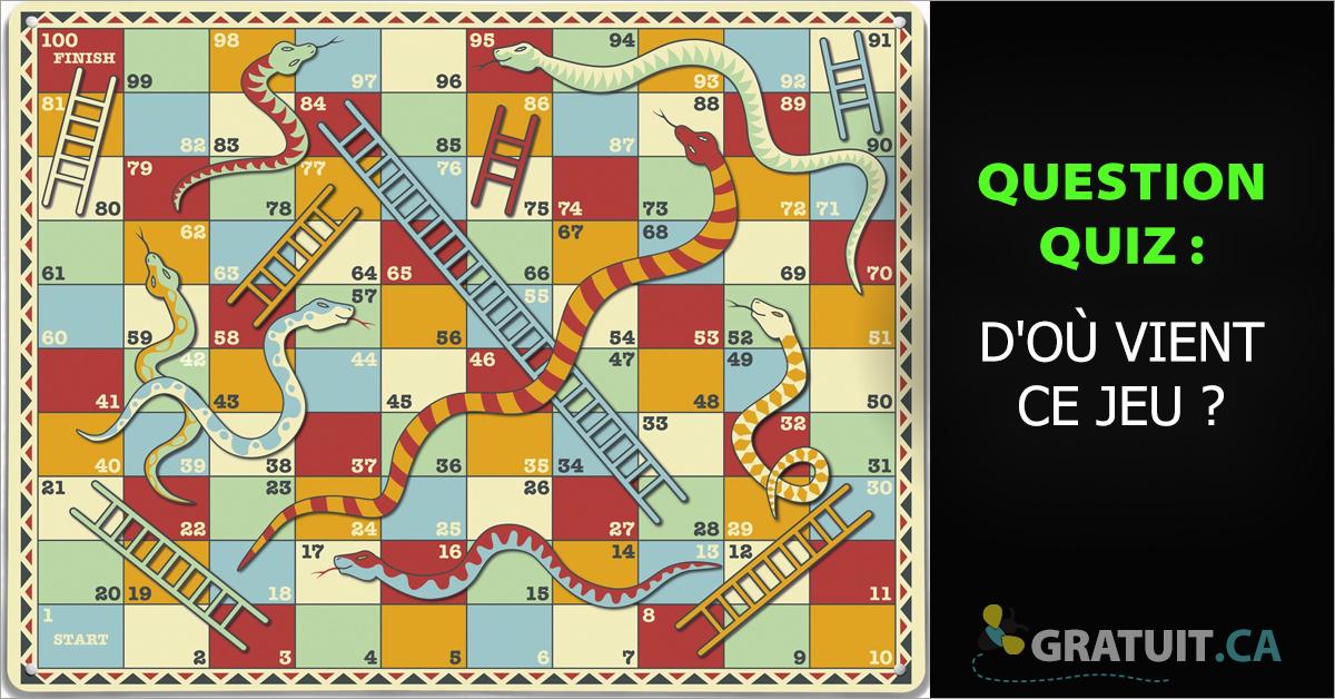 Quiz : D'où vient le jeu serpent et échelles ?