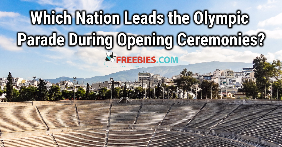 TRIVIA: Which nation leads the Olympic parade during opening ceremonies?