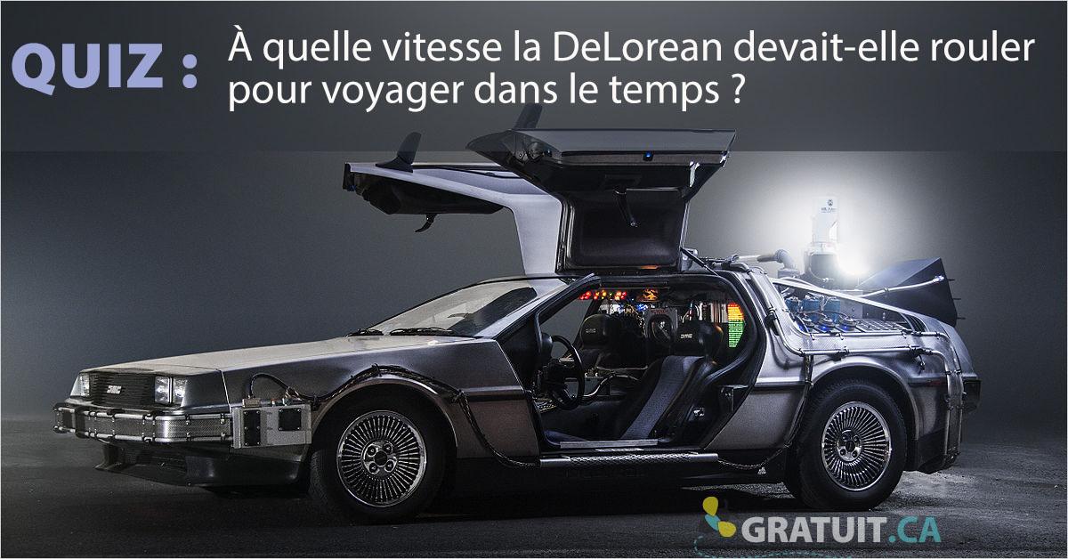 Quiz : À quelle vitesse la DeLorean devait-elle rouler pour voyager dans le temps?