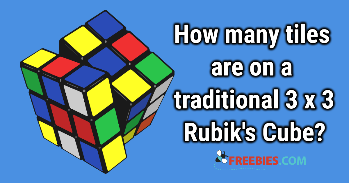 TRIVIA: How many coloured squares on a Rubik's Cube?