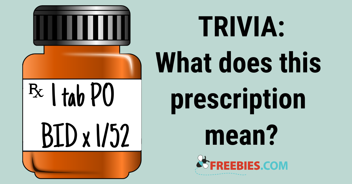 TRIVIA: Can you read this prescription?