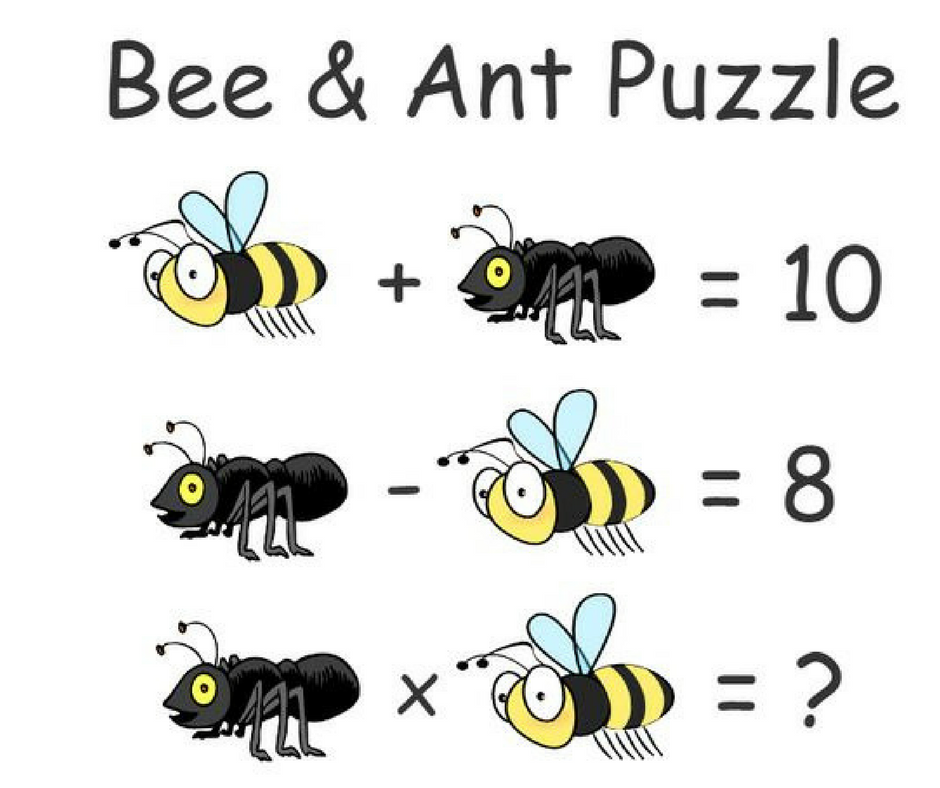 Help this ant and bee solve this math problem!