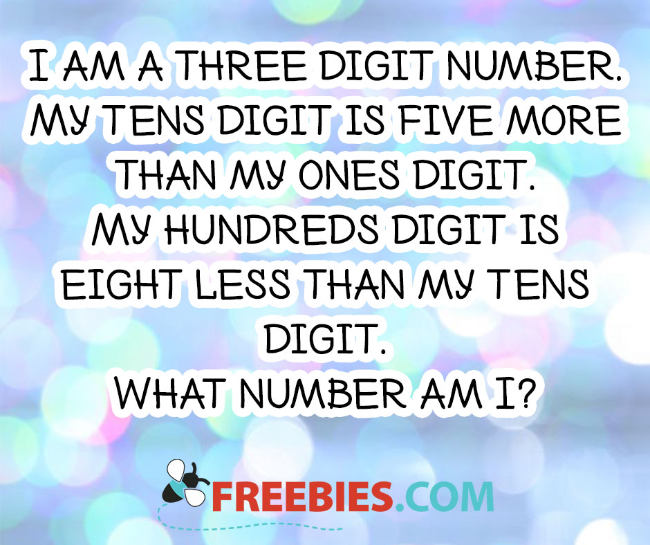 RIDDLE: I Am a Three Digit Number