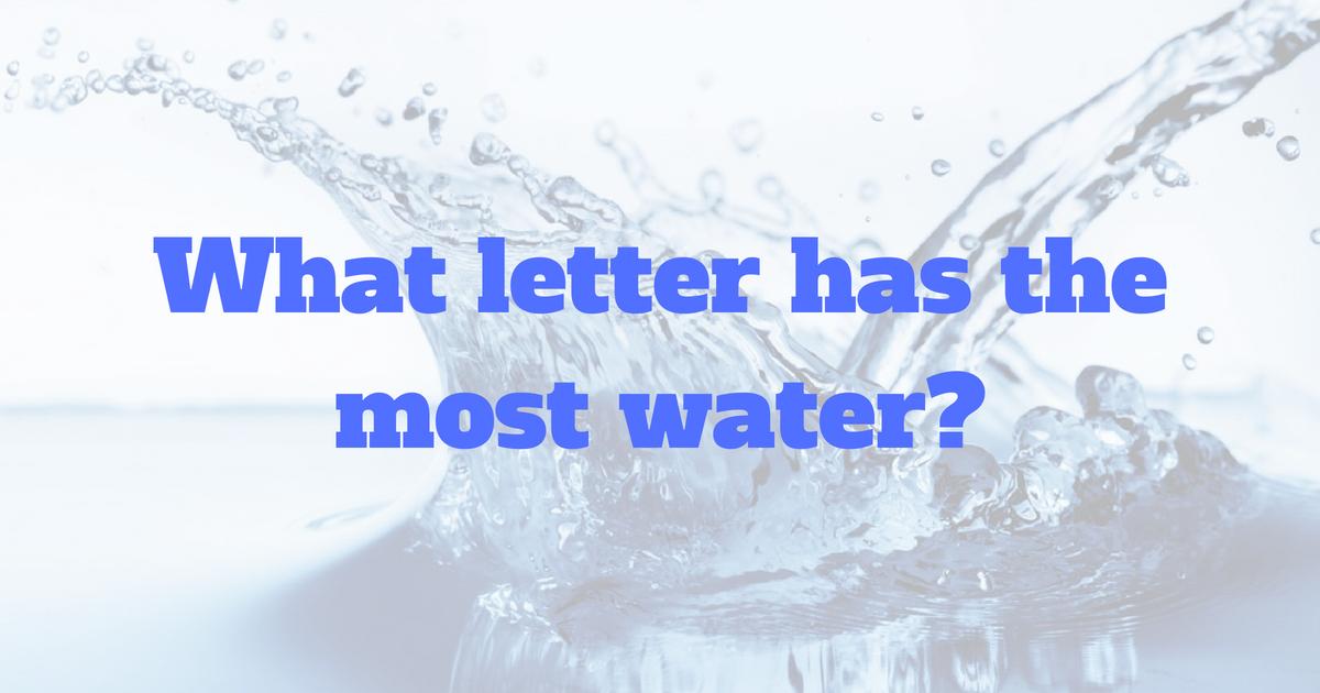 alphabet water