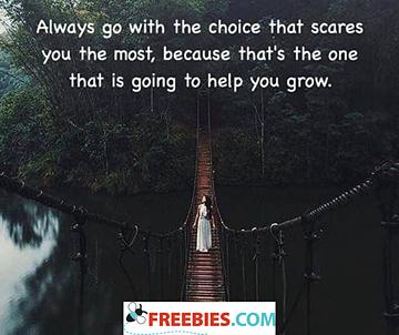 Always go with the choice