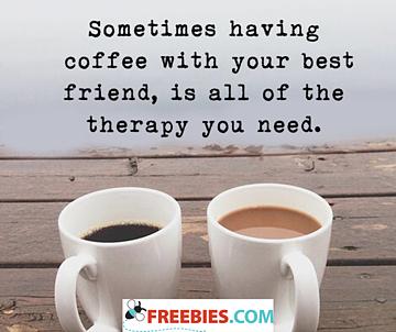 Sometimes having coffee