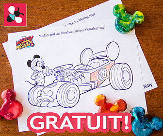 Télécharger la page à colorier Mickey & The Roadster Racers