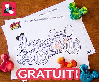 Télécharger la page à colorier Mickey & The Roadster Racers