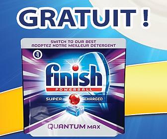 Gratuit - détergent Finish Quantum en format 45 ou 64 capsules