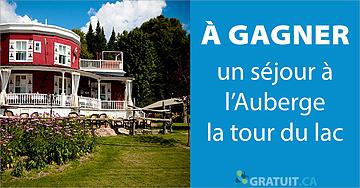 Gagnez un séjour à l'Auberge la tour du lac