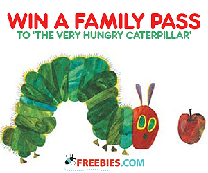Win a Family Pass to 'The Very Hungry Caterpillar' Show