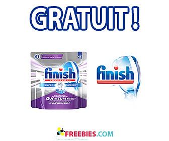 Obtenez gratuitement un savon pour le lave-vaisselle Finish