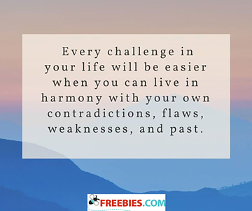 Every challenge in your life