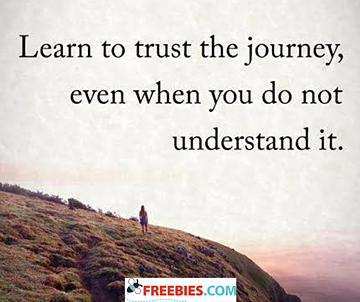 Learn to trust the journey