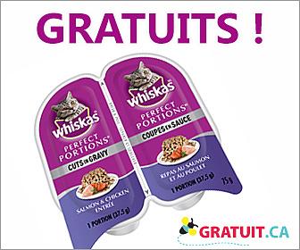 Whiskas portions individuelles gratuites!
