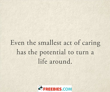 Even the smallest act