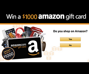 Win a $1,000 Amazon Voucher