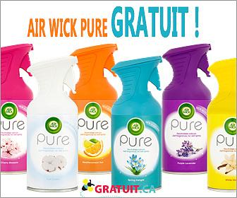 Essayez gratuitement les produits Air Wick Pure