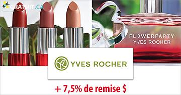 Profitez des soldes d'Yves Rocher ET recevez + 7,5% de remise!