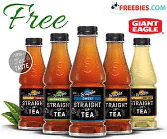 Free Snapple Straight Up Tea