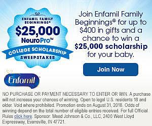 Win a $25,000 Scholarship from Enfamil Family Beginnings