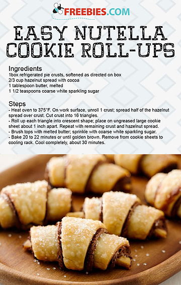 Easy Nutella Cookie Roll-Ups