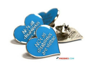 Free Blue Heart Badge