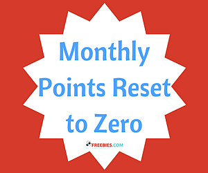 Monthly Points Have Been Reset
