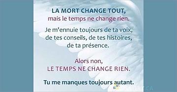 La mort change tout, mais le temps ne change rien