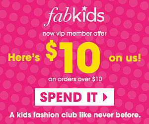 $10 Credit for FabKids