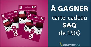 Gagnez une carte-cadeau SAQ de 150$