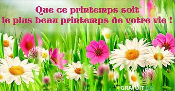 Que ce printemps soit le plus beau printemps de votre vie!