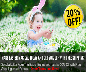20% Off Letters from the Easter Bunny