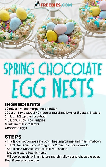 Spring Chocolate Egg Nests