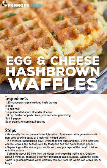 Egg & Cheese Hashbrown Waffles