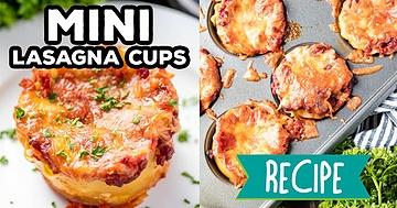 Mini Lasagna Cups