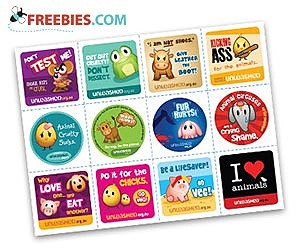 Free Stickers from Animals Australia