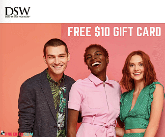 Free $10 DSW Gift Card