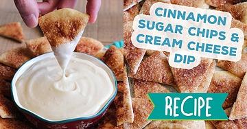Cinnamon Sugar Chips & Cream Cheese Dip