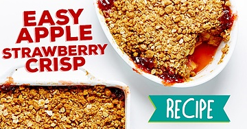 Apple Strawberry Crisp