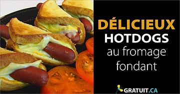 Hotdogs au fromage fondant