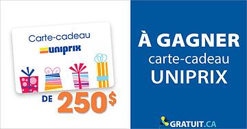 Gagnez une carte-cadeau Uniprix de 250$