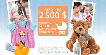 Gagnez une virée de magasinage pour bébé de 2 500 $
