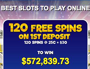 Get 120 Free Spins