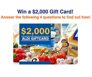 Win a $2000 Aldi Voucher