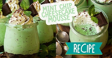 Mint Chip Cheesecake Mousse