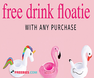 Free Drink Floatie at Charlotte Russe