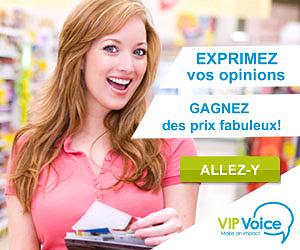 Gagnez des points et des prix avec VIP Voice!