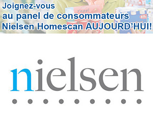 Joignez-vous au panel Nielsen Homescan et recevez des cadeaux!