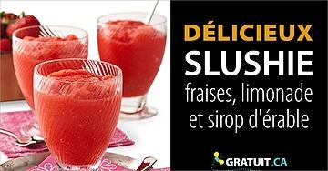 Slushie aux fraises, limonade et sirop d'érable